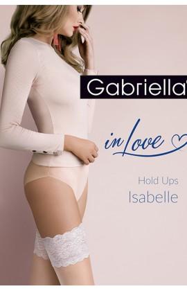 Чулки Gabriella Isabelle 20 den с самоудеживающимся кружевом (14 см) телесный-шампань