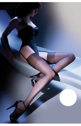 Чулки Gabriella Calze Cher 15 den под пояс Белый