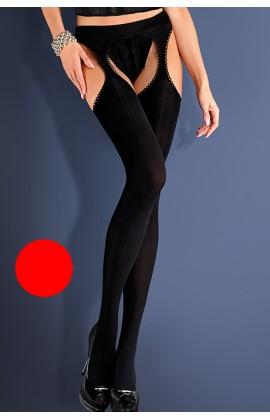Чулки с поясом Gabriella Strip Panty Microfibre 60 den Красный