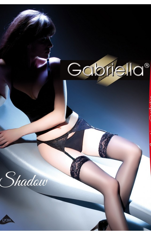 Чулки с поясом Gabriella Shadow 15 den Белый