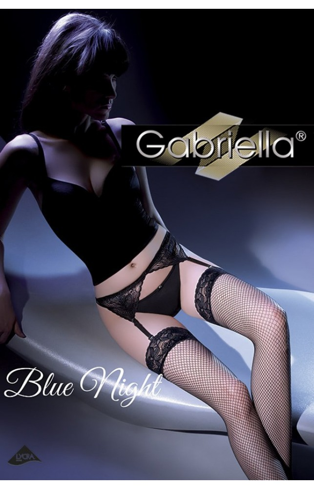 Чулки с поясом Gabriella Blue night Белый