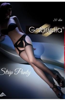 Чулки с поясом Gabriella Strip Panty 20 den Черный