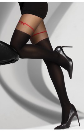 Колготки LivCo Corsetti Hreiama 60 den Черно-красный