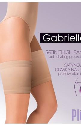 Ленты на бедра Gabriella Satin самоудерживающиеся plus size Бежевый