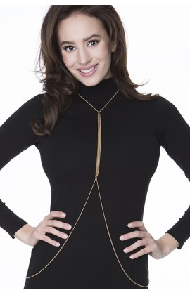 Боди - декоративная цепочка на тело Julimex Bijoux Holly Золотой