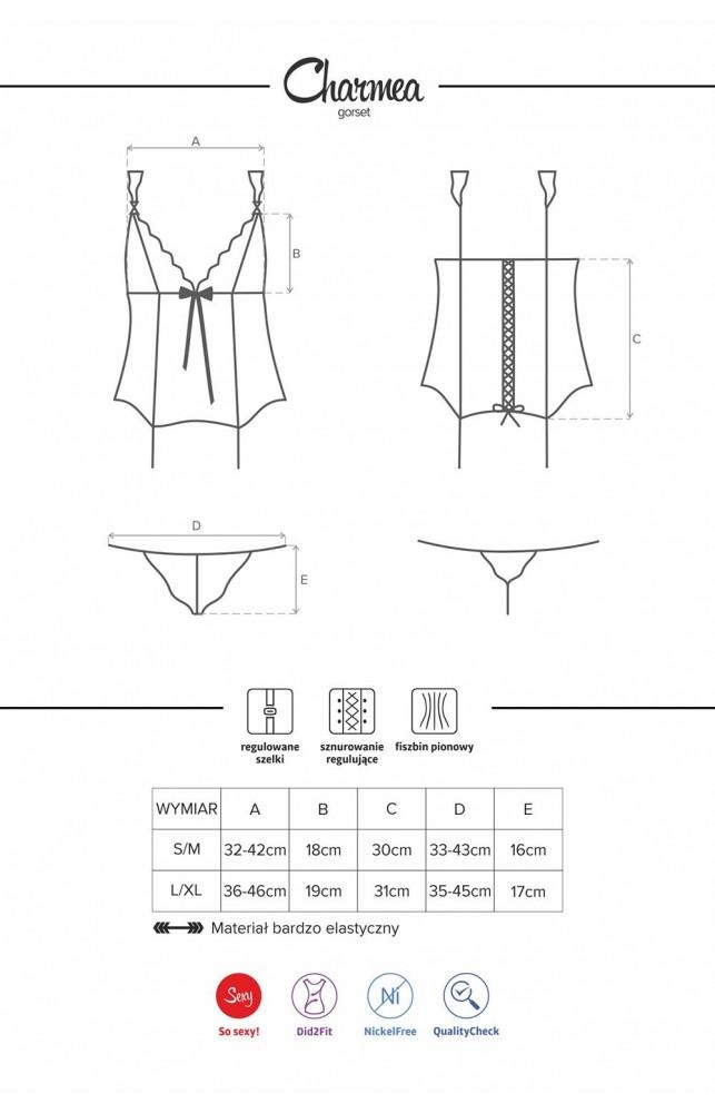 Комплект Obsessive Charmea corset