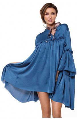 Платье Pigeon P-598 Сине-шоколадный