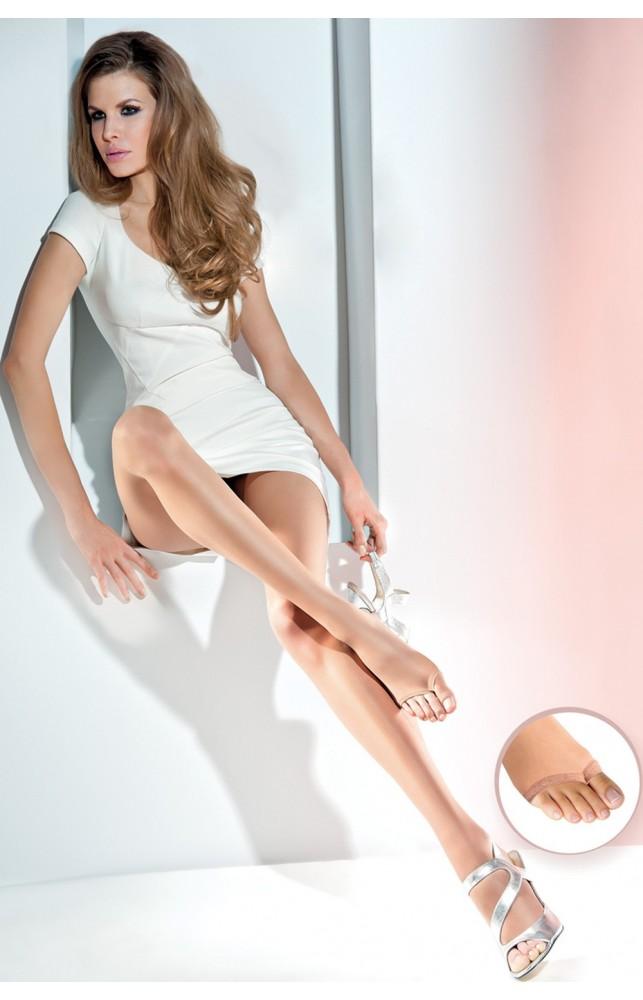 Классические колготки с открытым носком Velia 10d