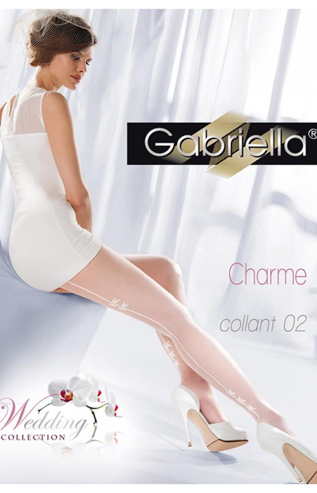 Колготки Gabriella Charme 02 20 den без трусиковой части