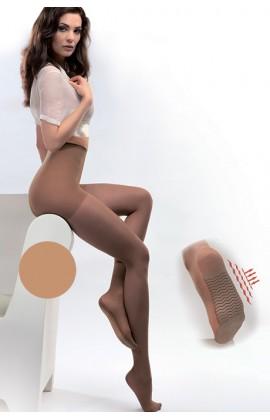 Колготки Gabriella Medica Massage 20 den противоварикозные с уплотненными шортиками и профилактическим массажем ступни Телесный
