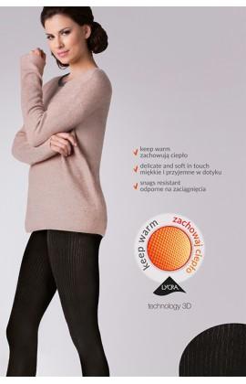 Колготки Gabriella Warm up Fashion 200 den без трусиковой части Черный