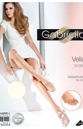 Колготки Gabriella Velia 10 den без трусиковой части и без пальцевой части Экри