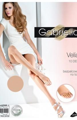 Колготки Gabriella Velia 10 den без трусиковой части и без пальцевой части Легкий загар