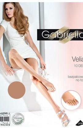 Колготки Gabriella Velia 10 den без трусиковой части и без пальцевой части Насыщенный загар